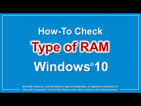 How to Check Type of RAM in Windows 10