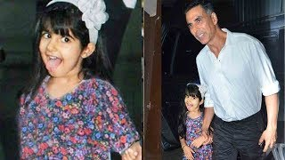 Akshay Kumar's Daughter Nitara Makse CUT€ST FACE'S when Cameraman asks for a Photo wid Daddy