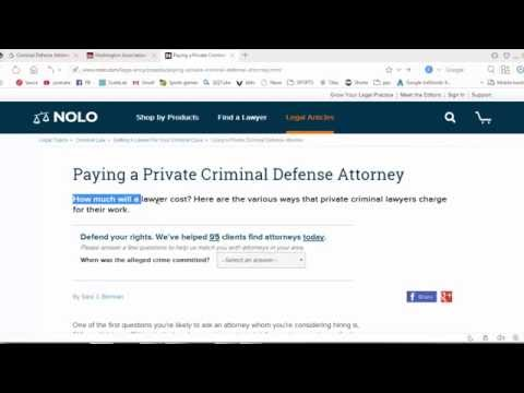 Paying a Private Criminal Defense Attorney