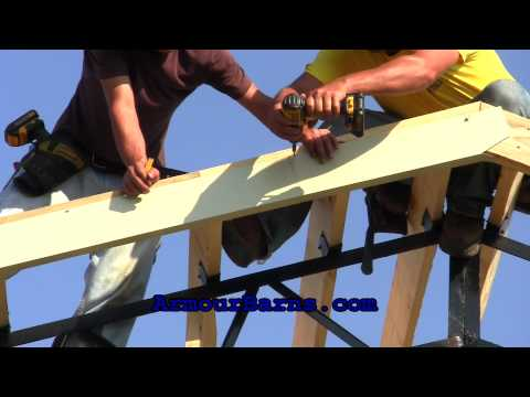 20x40x12 Steel Truss Pole Barn Kit Part 3 How We Install The Panels And Trim
