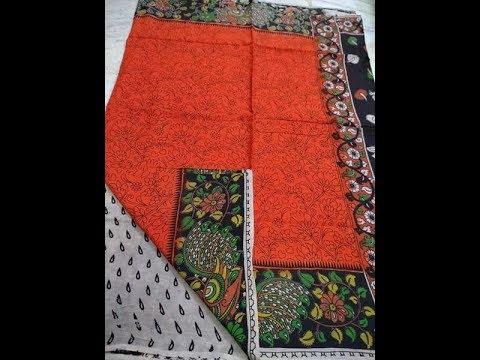 Designer Kalamkari Silk Sarees Online Shopping || Kalamkari Sarees With Matching Blouse Designs