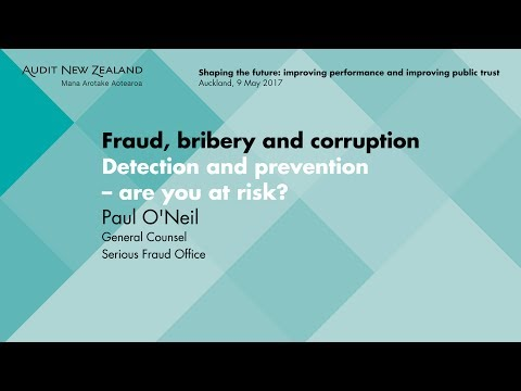 Fraud, bribery and corruption - Audit New Zealand Information Update