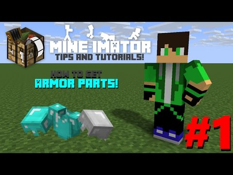 Mine-imator Tips & Tutorial #1 | How Get Armor Parts!