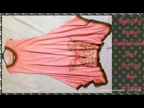 DIY Handkerchief Shirt cutting and stitching trendy designer shirt for girls