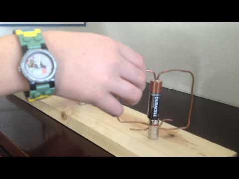 Jacob's 4th Grade Science Project - Homopolar Motor