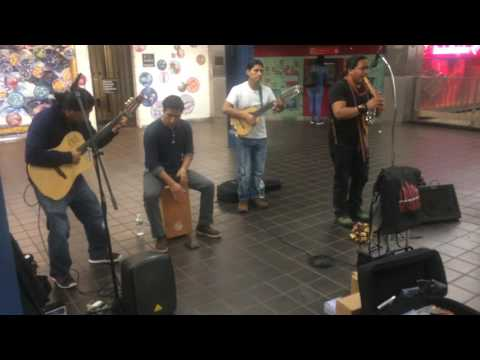 KAYLLA BAND performance in Time Square on 42nd Street Port Authority Bus Terminal