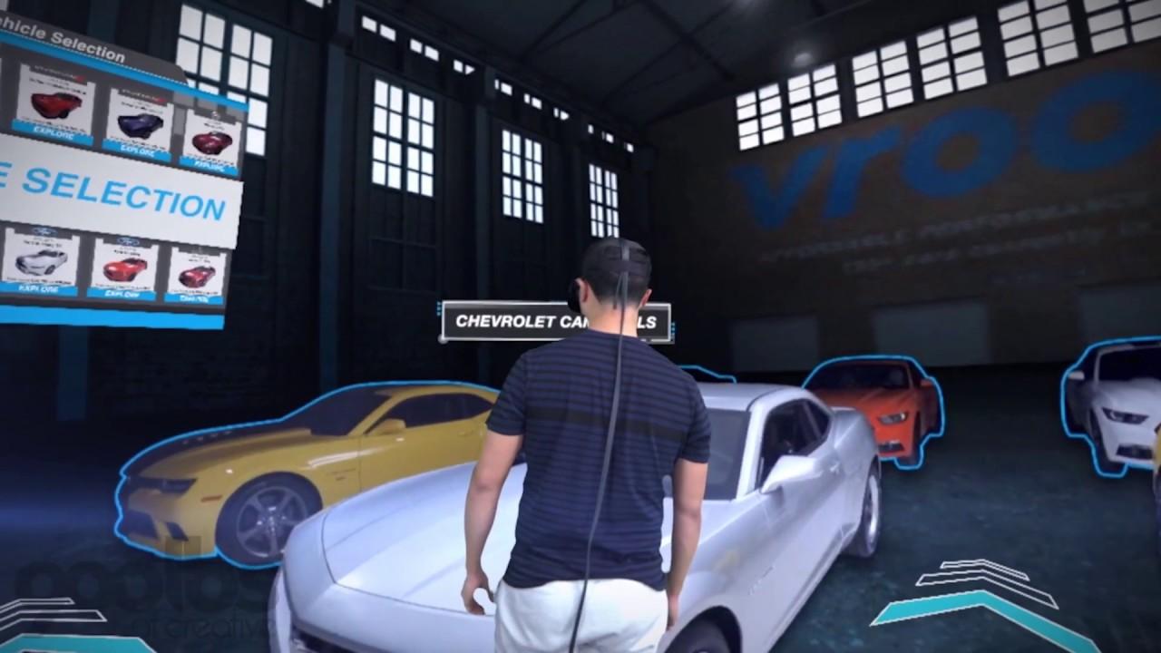 Vroom Virtual Reality Auto Showroom - 360 Degree Immersive VR Development - 900lbs