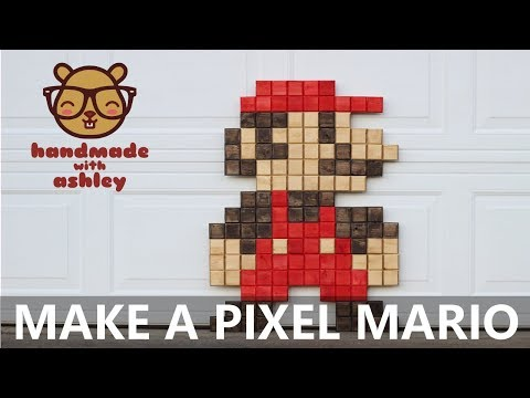 Make a Supersize Pixel Mario | Two 2x4 Challenge