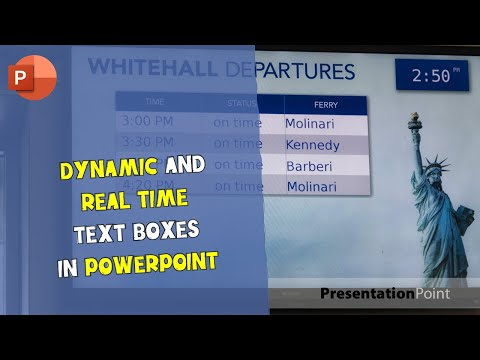 Dynamic and real-time text boxes in PowerPoint