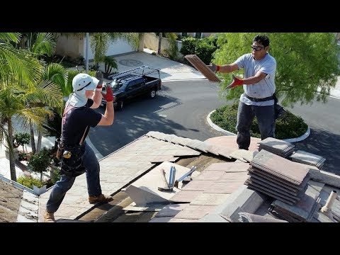 How to repair a leaking roof with concrete roofing tiles
