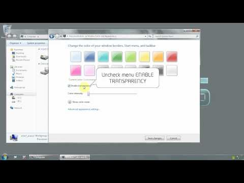 Windows 7 Ultimate 64 bit - How to disable transparency for your theme - www.vid4.us