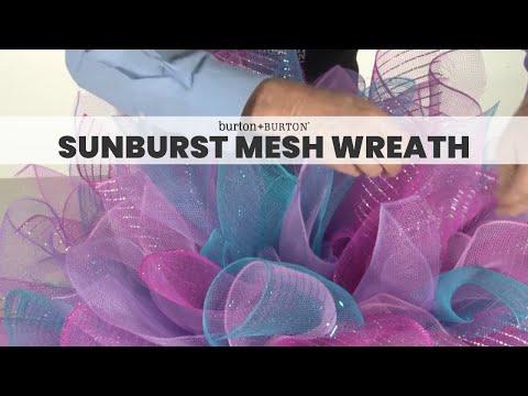How to Make a Sunburst Mesh Wreath