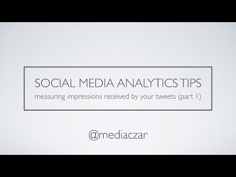 Analyse your Twitter Impressions in Excel (part 1)