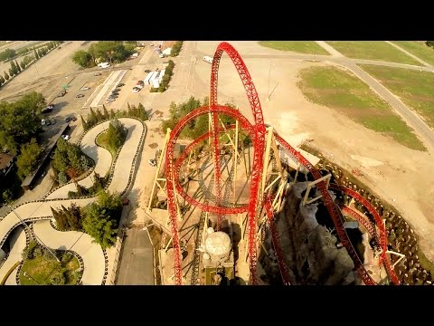 Cannibal front seat on-ride HD POV @60fps Lagoon