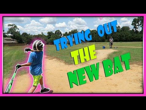 TRYING OUT A NEW BASEBALL BAT | ERIKTV365