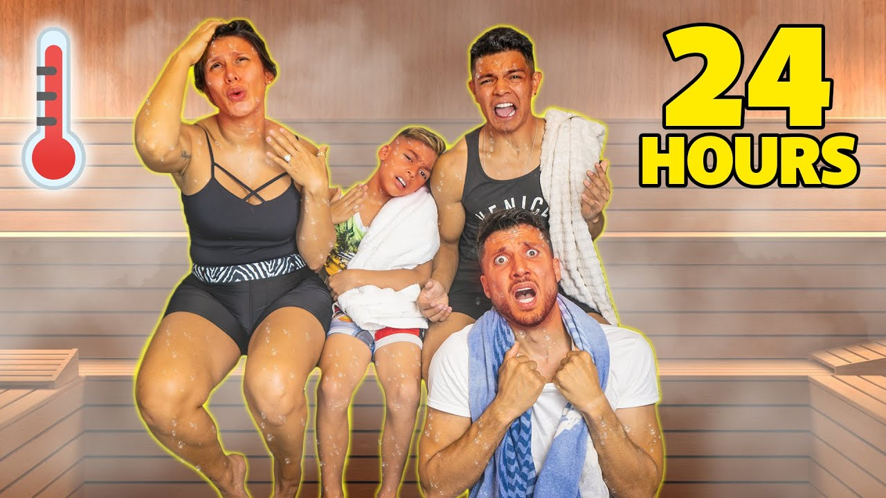 SURVIVING 24 Hours In a HOT STEAM ROOM! **Winner Gets Prize**   The Royalty Family