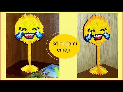HOW TO MAKE 3D ORIGAMI EMOJI.Laugh through the slices.