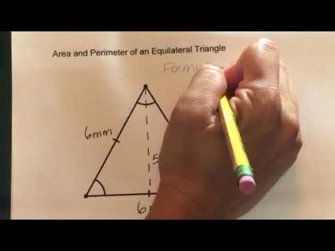 How to find the Area and Perimeter of an Equilateral Triangle