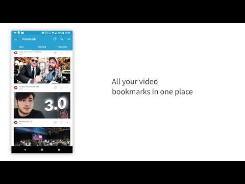 Vookmark Android - Easy Video Bookmarking