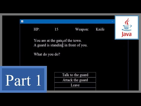 How to make a Text Adventure Game with GUI in Java P1 - Beginner's Game Development Tutorial (Swing)