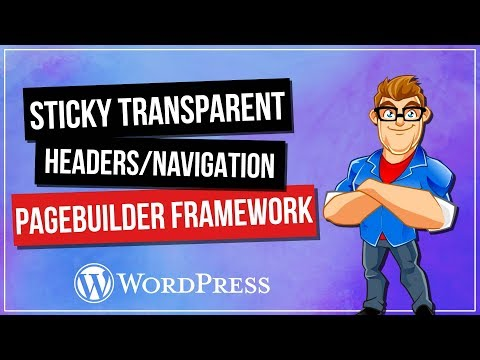 WordPress Transparent Sticky Headers