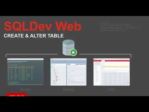 Oracle SQL Developer Web: CREATE and EDIT TABLEs