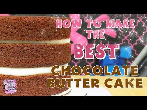 BEST Chocolate Butter Cake IN THE WORLD! Cake Recipe Tutorial!