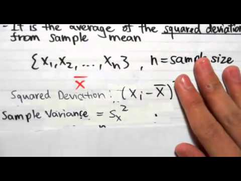 2 3  Sample Mean and Sample Variance