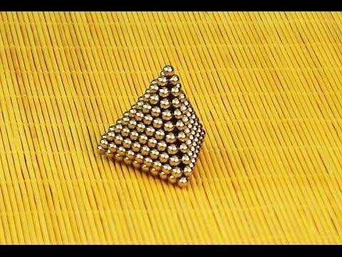 Buckyballs Tricks Pyramid How to make a Pyramid