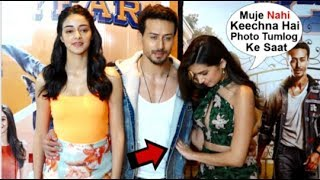 Download Tara Sutaria Looks UPSET After Tiger Shroff IGNORES Her In Front Of Media At SOTY 2 Movie Promotion Video
