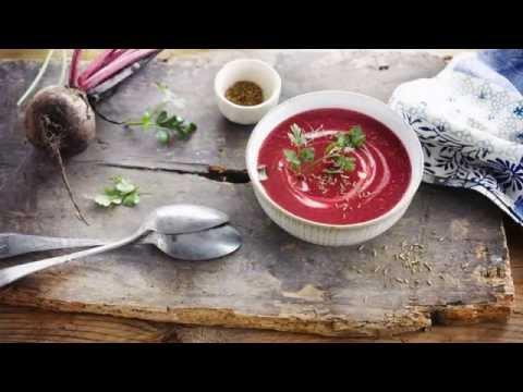 Alpro Recipe - Red Velvet Beetroot Soup