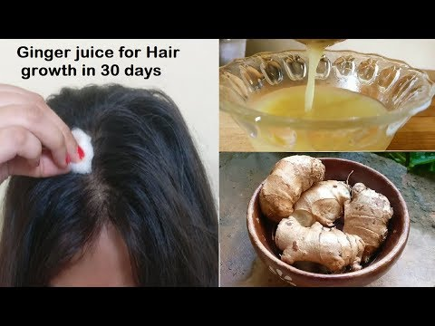 Put Ginger juice in your hair, 30 days later double Hair Growth, Get long hair with Ginger Hair Oil