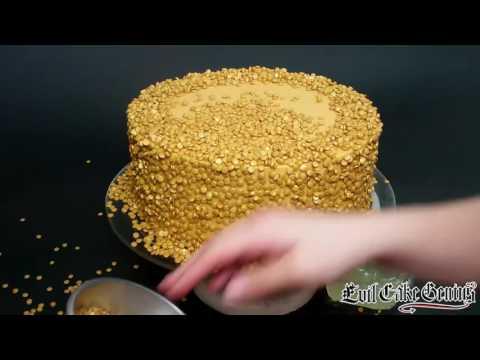 Gold Sequin Cake Tier