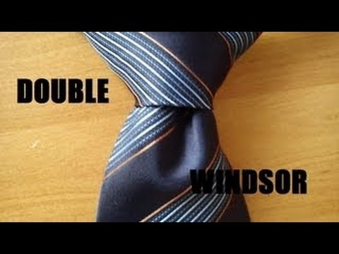 How to tie a tie, EASY DOUBLE WINDSOR, (FROM YOUR POINT OF VIEW) FULL HD