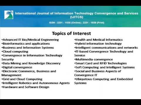 International Journal of Information Technology Convergence and Services (IJITCS)