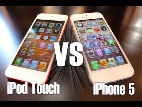 iPod Touch 5th Gen & iPhone 5 Comparison (Design,Speed, & Camera Comparison) + Brief Review