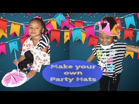 party hats with paper plates | grwm