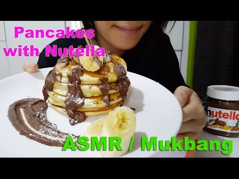 Pancakes with Nutella | Chinese New Year : ASMR / Mukbang ( Cooking & Eating Sounds )
