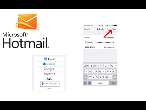 How to add Hotmail Email to iPhone iPad