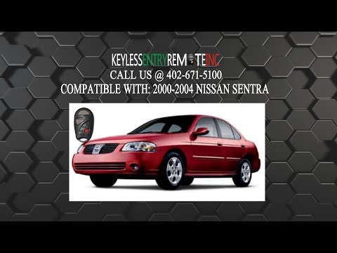 How To Replace Nissan Sentra Key Fob Battery 2000 2001 2002 2003 2004