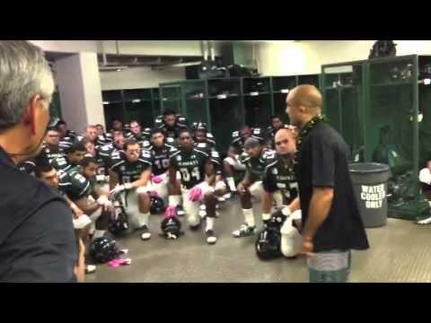 BJ Motivates The UH Football Team