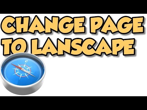 how to change one page to landscape in word 2010