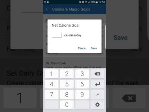 How To Change Your Macro Goals on my fitness pal