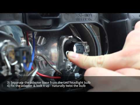 H7 & H1 - Lunex LED Headlight Bulbs installation - LC PHILIPS - Halogen Replacement