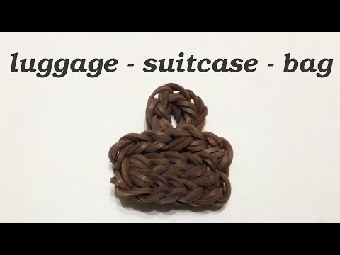 Rainbow Loom Luggage Suitcase Bag Charms | How To Make Loom Bands | Easy