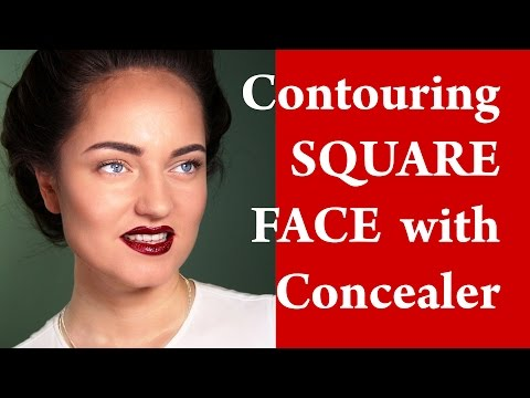 Contouring and highlighting a SQUARE face - How to apply makeup on SQUARE face video tutorial