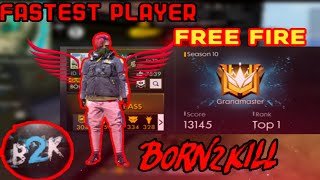 Download Fastest global player free fire kill montage😮😮😲🤫 Video