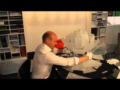 Assembling the beautiful glass Artichoke from Louis Poulsen