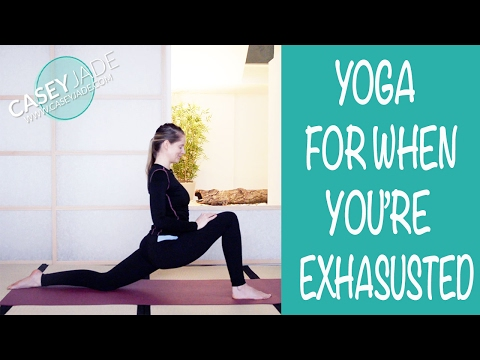 YOGA FOR WHEN YOU ARE FEELING EXHAUSTED - SLOW GENTLE YOGA CLASS
