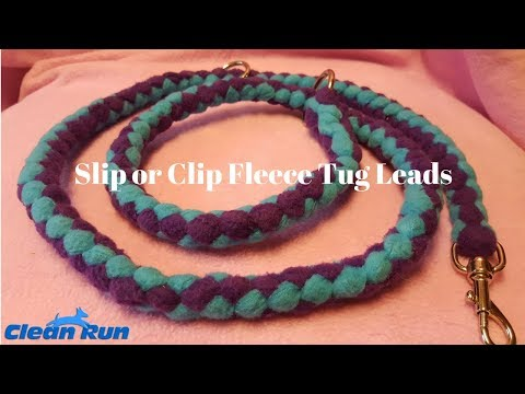 Slip or Clip Fleece Tug Leads